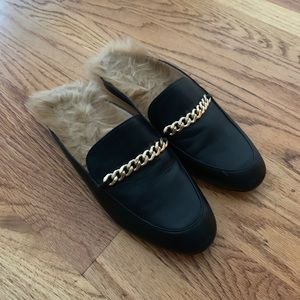 Guess loafers with faux fur
